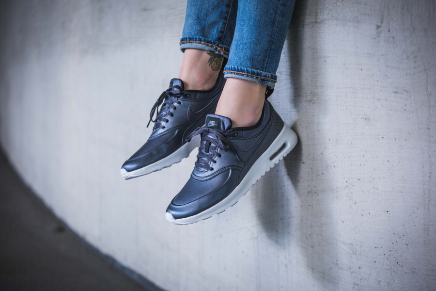 discount online for sale official photos clearance nike air max thea sneakers in metallic teal blue ...