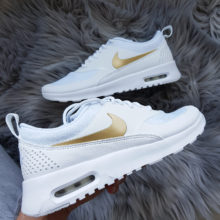Nike Wmns Air Max Thea J White Metallic Gold White weiss gold