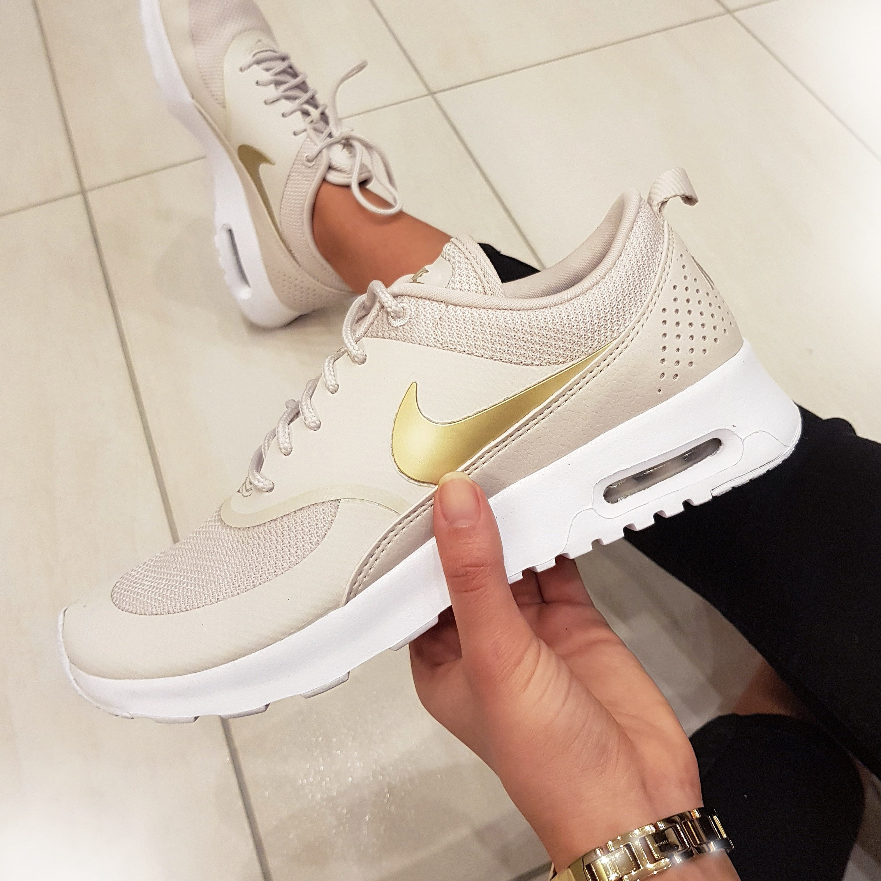 nike air max thea grau gold